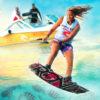 apprendre à glissée tractée par un bateau wakeboard Montpellier Sète Cap Agde